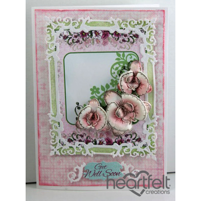 Pink Orchid Lace Frame