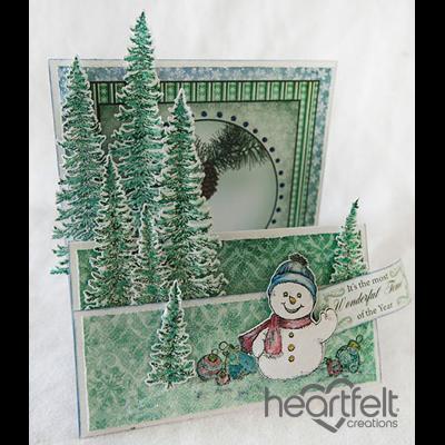 Snowman And Trees Flip Fold Card
