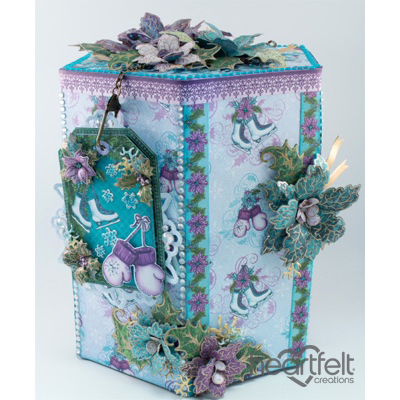 Purple And Teal Decorated Gift Box