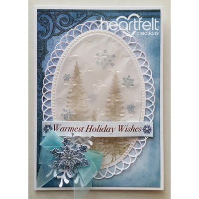 Vellum Oval Snowflakes And Trees