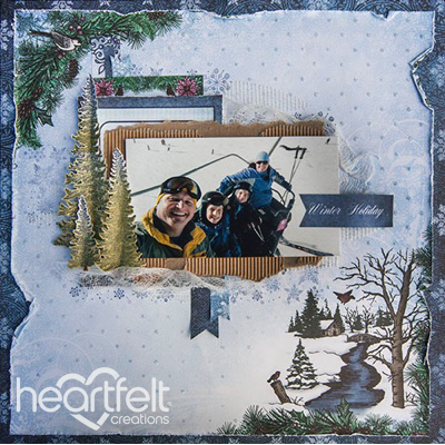 Winter Holiday Scene Layout