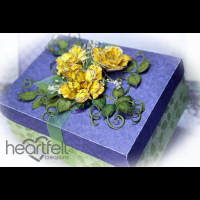 Yellow Classic Rose Gift Box
