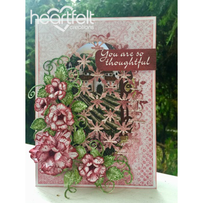 Pink Rose Window Card