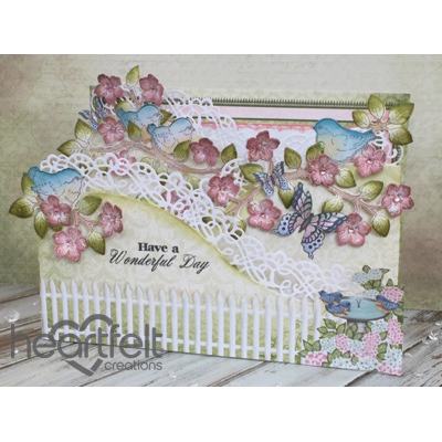 Birds And Blooms Foldout Card