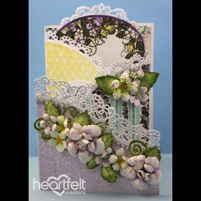 Cascading Rose Foldout Card