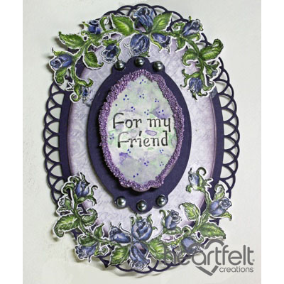 Friendship Rose Oval Tag