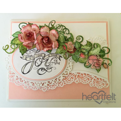 Joyful Pink Roses And Borders