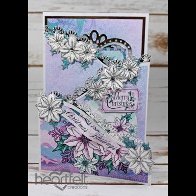 Silver Christmas Foldout Card