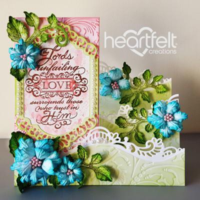 Teal Rose Foldout Card