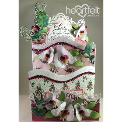 White Orchid Foldout Card