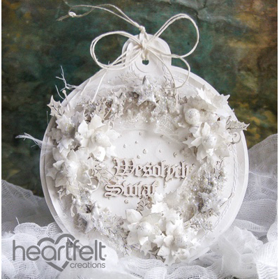 White Christmas Bauble Card