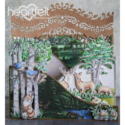 Woodsy Scene Foldout Card