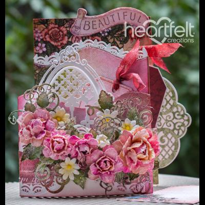 Beautiful Pink Rose Foldout Card