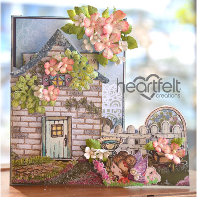 Blooming Cottage Shaped Card