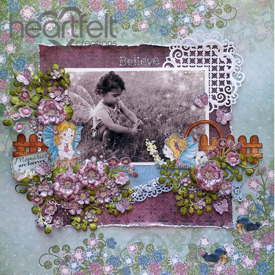 Fairies Floral Believe Layout