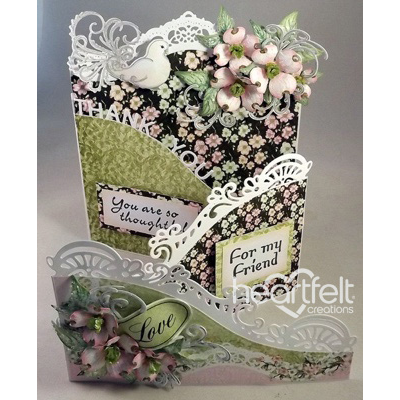 Pink Dogwood Foldout Card