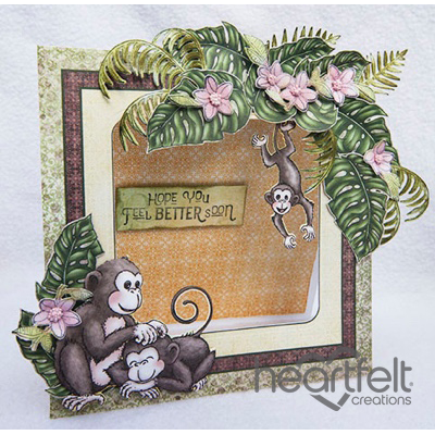 Monkey Get Well Frame Card