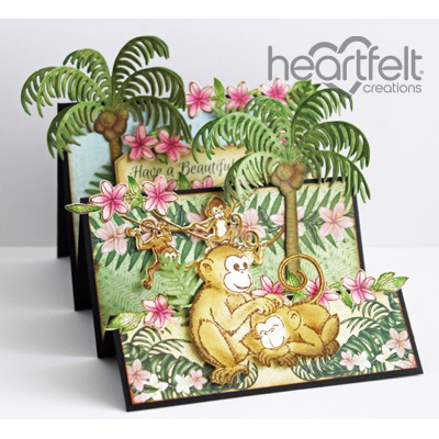 Palm Trees And Monkeys Flipfold Card