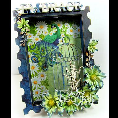 Peacock Shadow Box