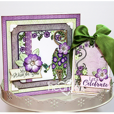 Purple Petunias & Tag