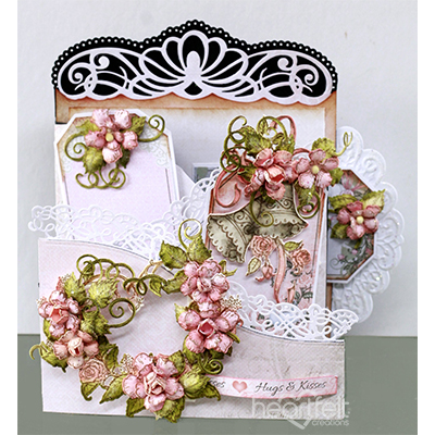 Wedding Heart Foldout Card