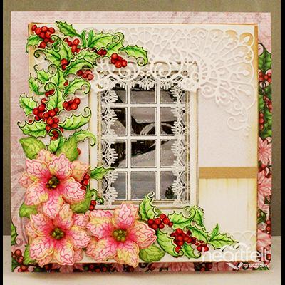 Fringed Christmas Window