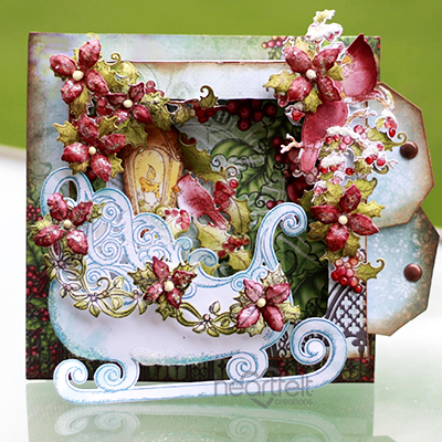 Winter's Sleigh Shadow Box Card