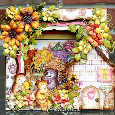 Beary Picnic Shadow Box