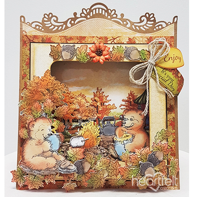 Fall Scene Shadow Box