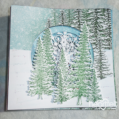 Spruce Tree Layered Card