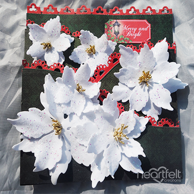 Dramatic Sparkling Poinsettias