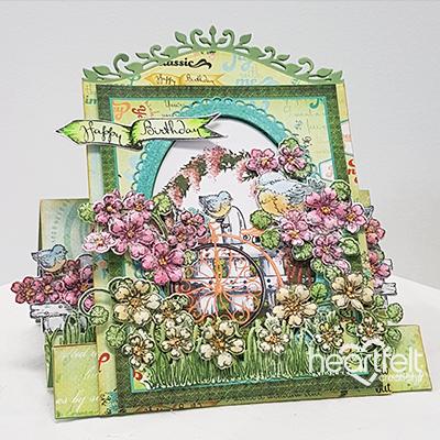 Floral Center Step Card