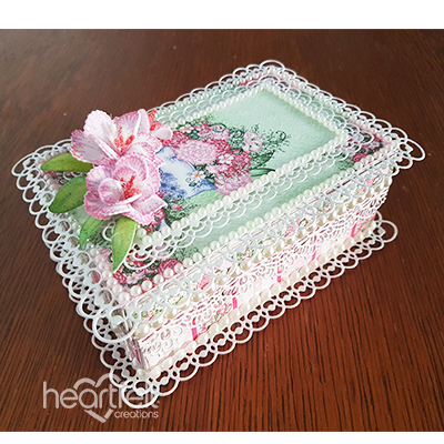 Jeweled Floral Coffer