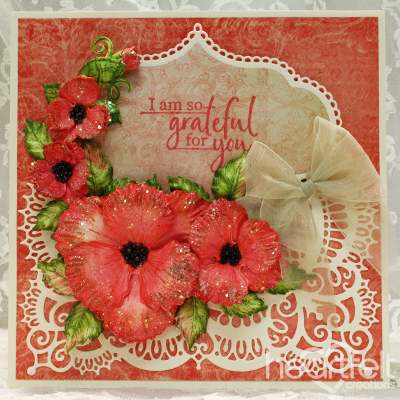 Grateful Poppies Card
