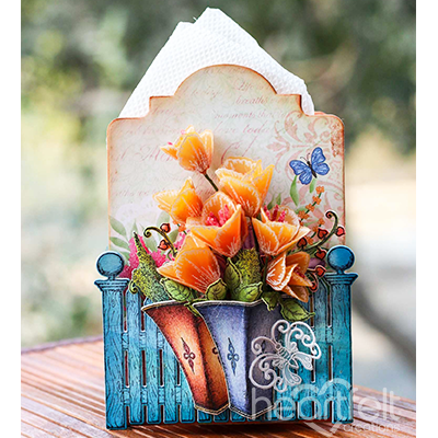 Vellum Tulips Tissue Box