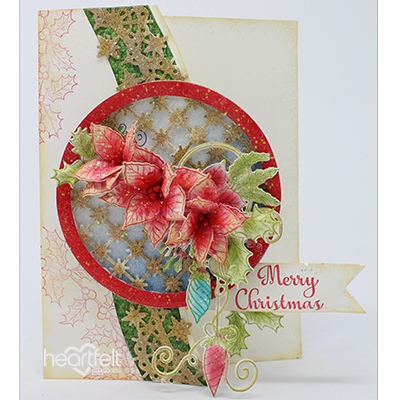Poinsettia Ornament Border