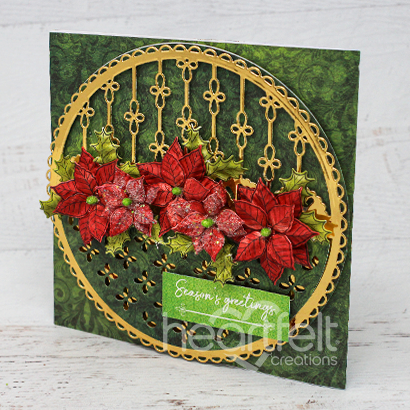 Eyelet Christmas Poinsettia