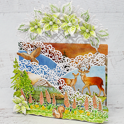 Wild Deer Foldout Card