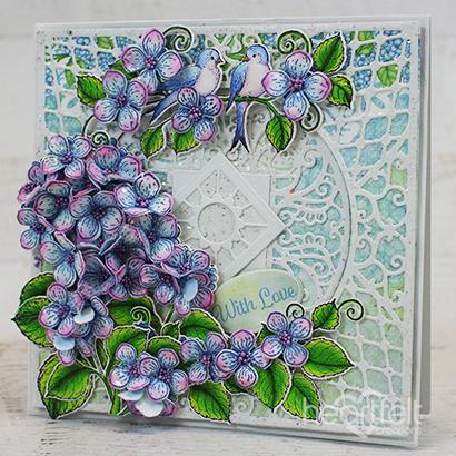 Hydrangea & Birdie Elegance
