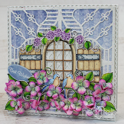 Hydrangea Window Wishes