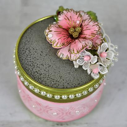 Embossed Blossom Tin