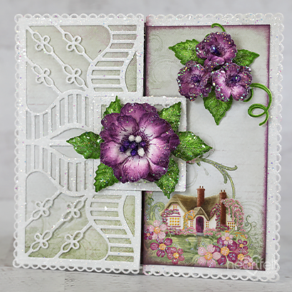Rose Cottage Fold Card