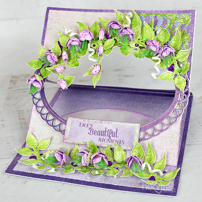 Eyelet Wisteria Easel