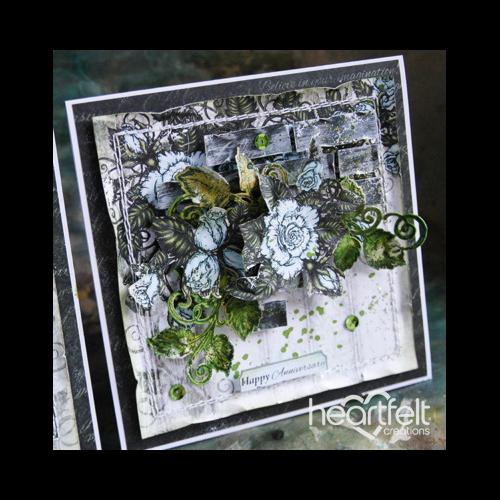 Aqua Rose Swirl Anniversary