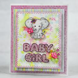 Baby Girl & Baby Elephant