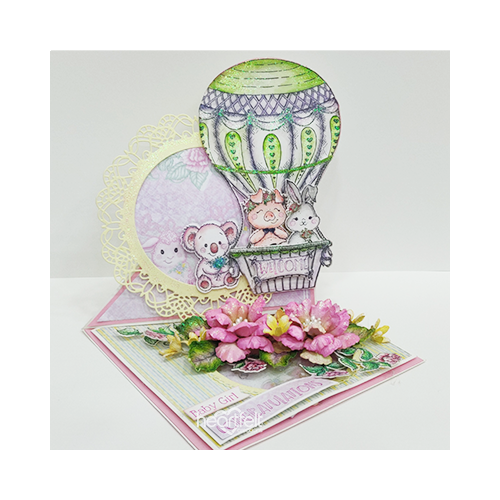Balloon Twisted Floral Easel
