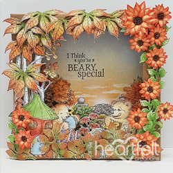 Beary Special Shadow Box Card