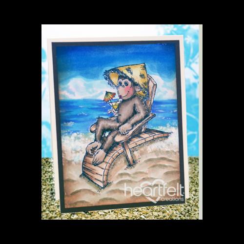 Beach Relaxing Monkey
