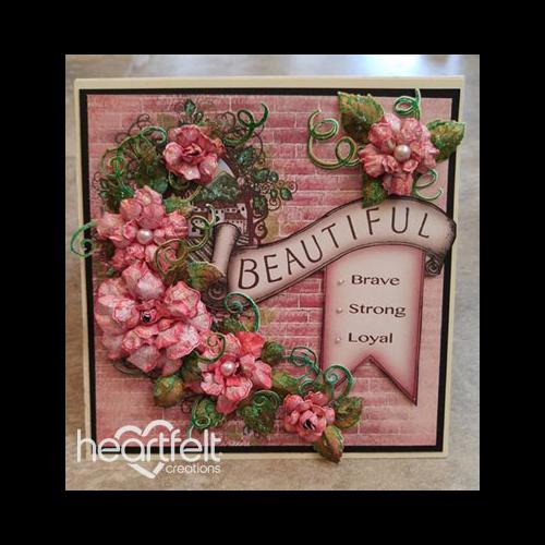 Beautiful Banner Pink Rose Card