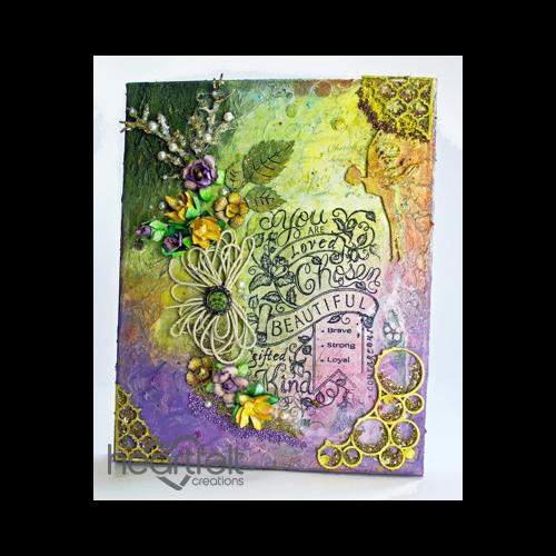 Beautiful Floral Mixed Media Canvas